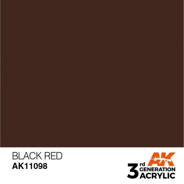 AK Interactive 3rd Gen Acrylic Black Red 17ml