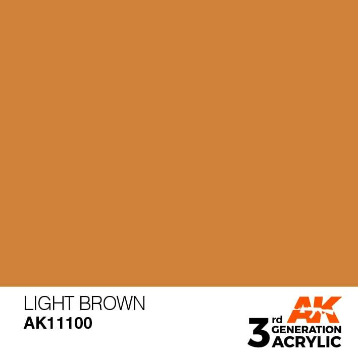 AK Interactive 3rd Gen Acrylic Light Brown 17ml