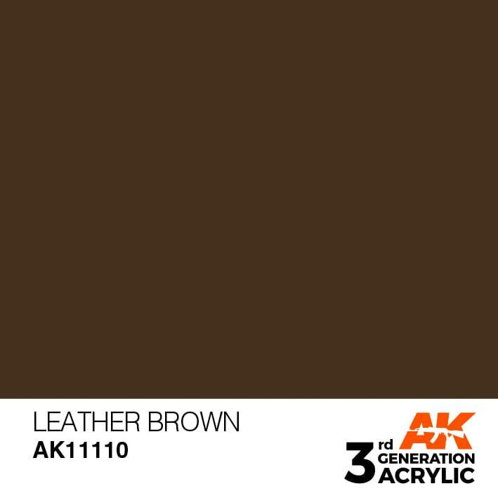 AK Interactive 3rd Gen Acrylic Leather Brown 17ml