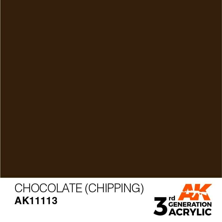 AK Interactive 3rd Gen Acrylic Chocolate (Chipping) 17ml
