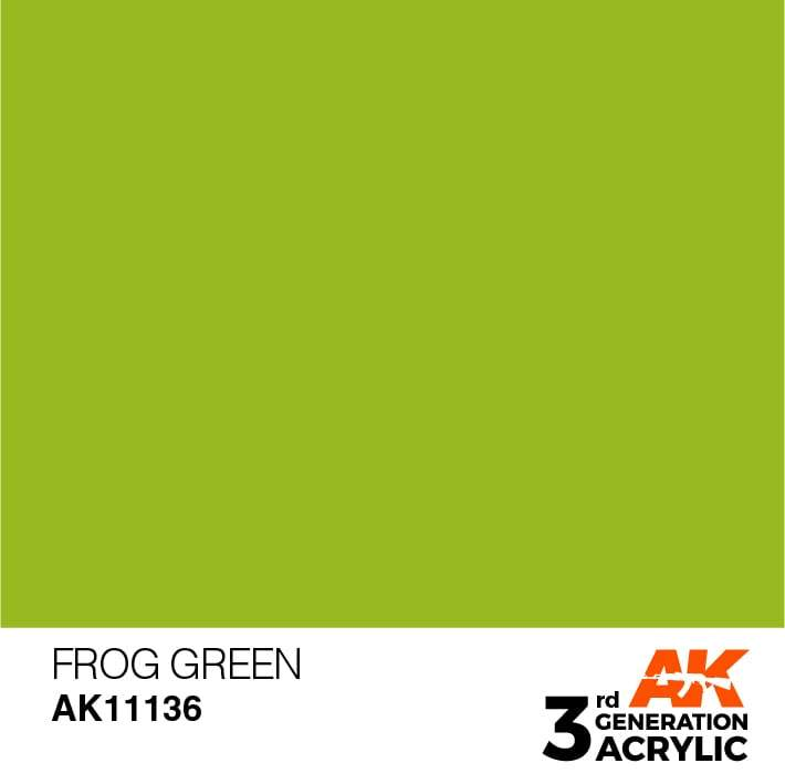 AK Interactive 3rd Gen Acrylic Frog Green 17ml