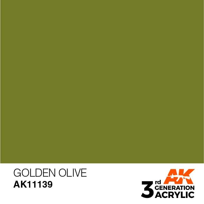 AK Interactive 3rd Gen Acrylic Golden Olive 17ml