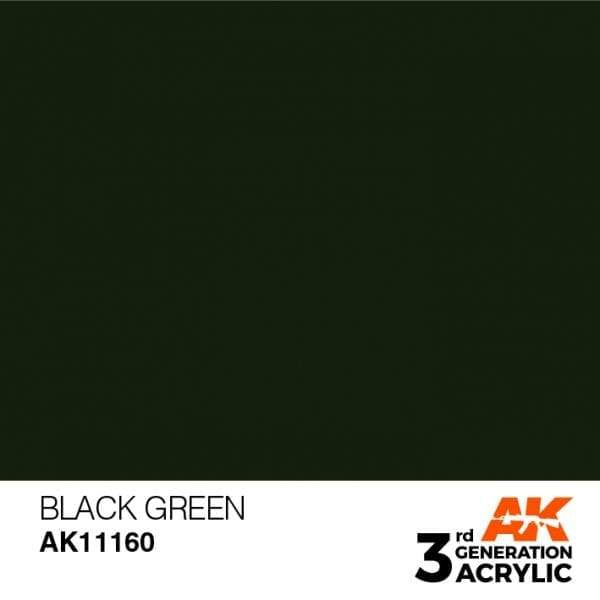 AK Interactive 3rd Gen Acrylic Black Green 17ml