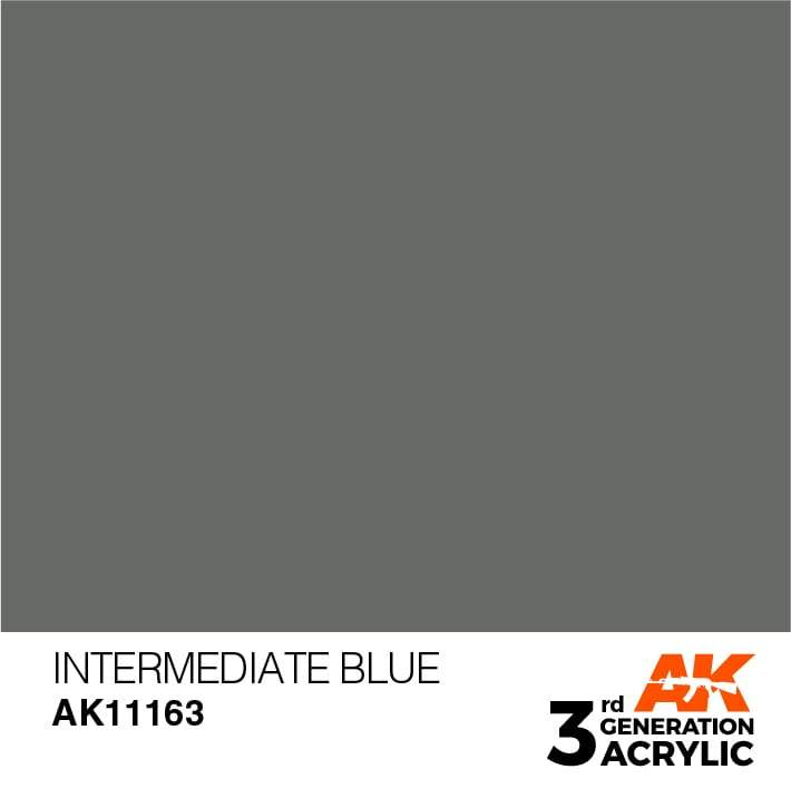 AK Interactive 3rd Gen Acrylic Intermediate Blue 17ml