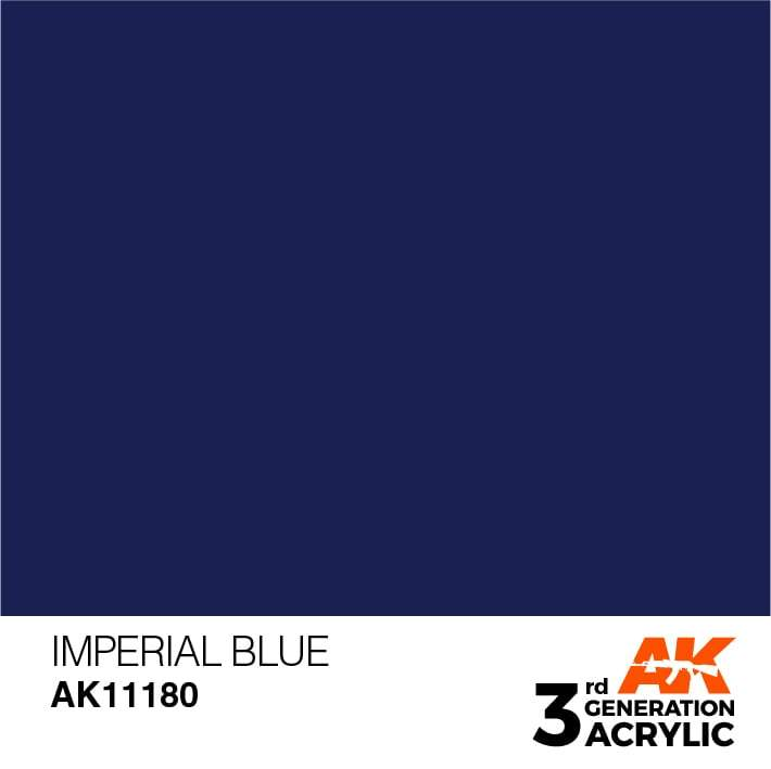AK Interactive 3rd Gen Acrylic Imperial Blue 17ml