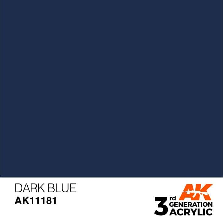 AK Interactive 3rd Gen Acrylic Dark Blue 17ml