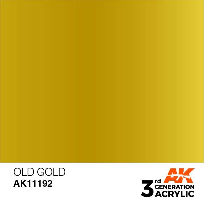 AK Interactive 3rd Gen Acrylic Old Gold 17ml