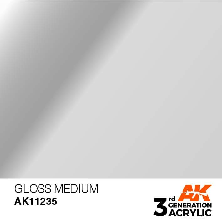 AK Interactive 3rd Gen Acrylic Gloss Medium 17ml