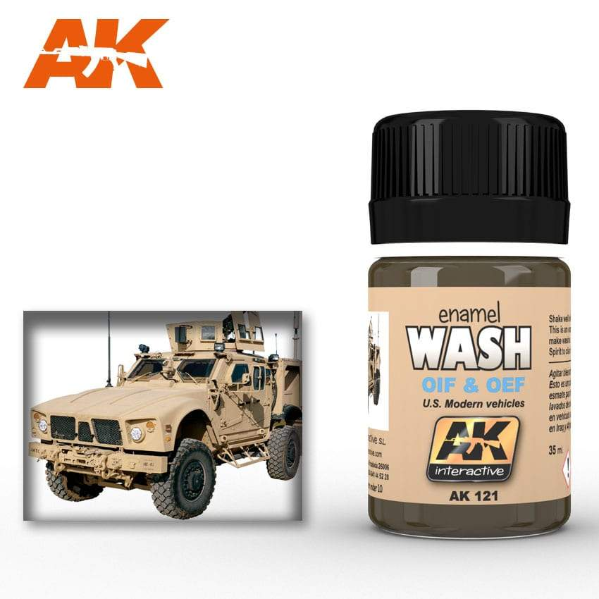 AK Interactive Wash For OIF & OEF - US Vehicles