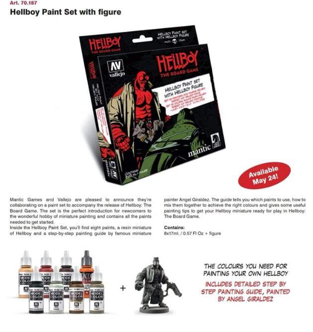 Hell Boy Paint Set with Figure