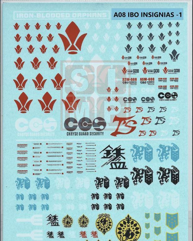 A08 General Design Water Decal Iron Blooded Orphan-1
