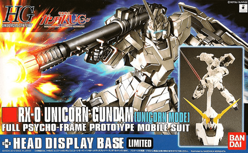 HGUC 1/144 #101 RX-0 Unicorn Gundam (Unicorn Mode) + Unicorn Head