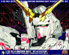 KNL HOBBY Gundam 1/35 RX-0 Unicorn Bust NT-D System full psycho-frame prototype M-S LED Lighting