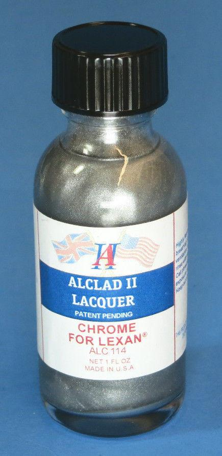 Alclad II 1oz. Bottle Chrome Lacquer for Lexan
