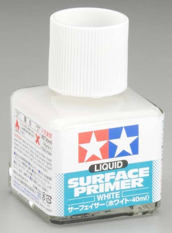 Tamiya Liquid Surface White Primer (40ml Bottle)