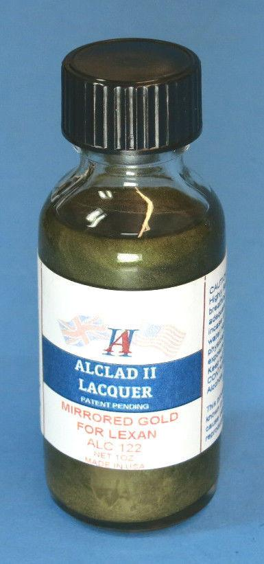 Alclad II 1oz. Bottle Mirrored Gold Lacquer for Lexan