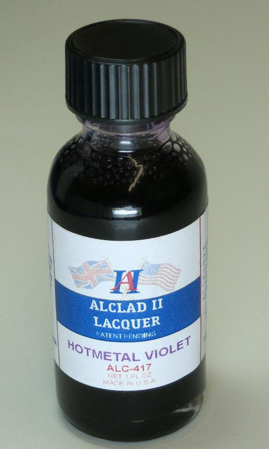 ALC-417	1oz. Bottle Transparent Hot Metal Violet Lacquer