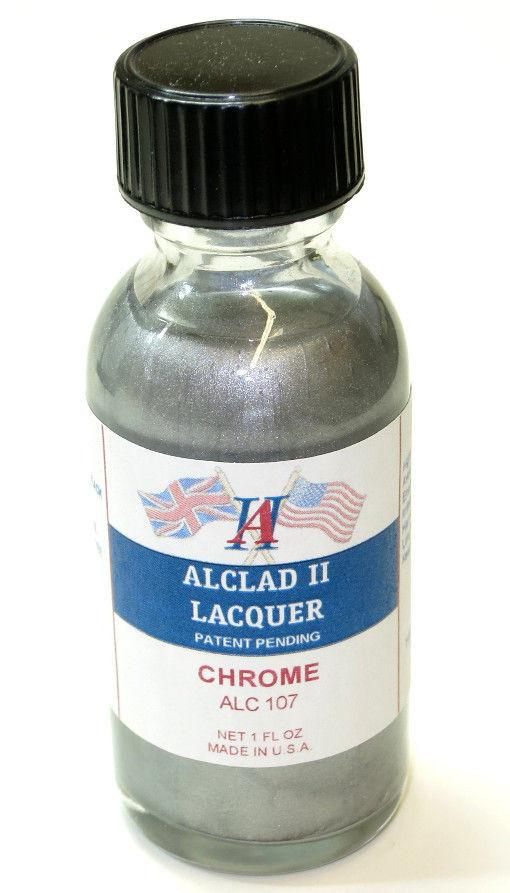 Alclad II 1oz. Bottle Chrome Lacquer for Plastic
