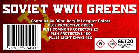 SOVIET WWII GREENS COLOUR SET