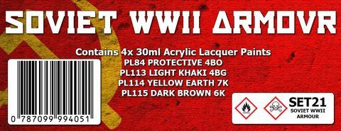 SOVIET WWII ARMOUR COLOUR SET