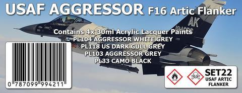 USAF AGGRESSOR : F16 ARTIC FLANKER COLOUR SET