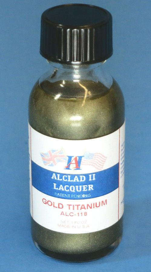 Alclad II 1oz. Bottle Titanium Gold Lacquer