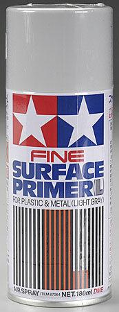 Tamiya Fine Surface Primer Light Gray (180ml Spray)