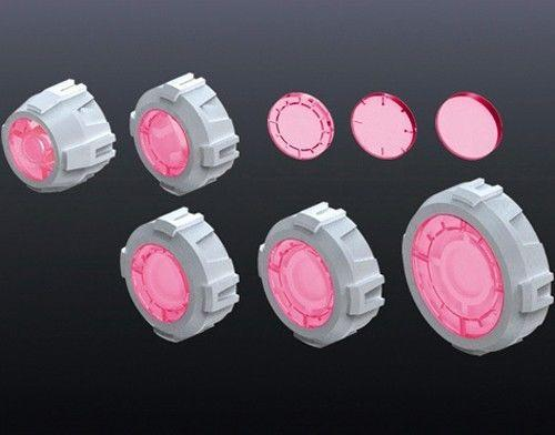 Non Scale Builders' Parts: MS Sight Lens 2 (Pink Ver) - USA Gundam Store