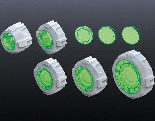 Non Scale Builders' Parts: MS Sight Lens 3 (Green Vr)