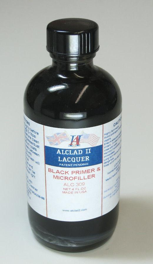 Alclad II 4oz. Bottle Black Primer & Microfiller
