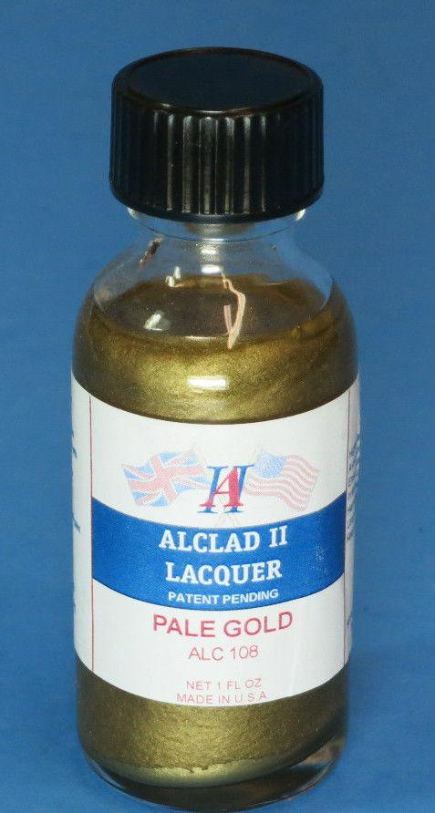 Alclad II 1oz. Bottle Pale Gold Lacquer