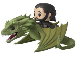 Pop! Rides: Game of Thrones - Jon Snow On Rhaegal W/ Pop Protector