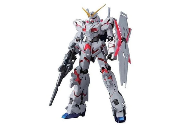 1/100 MG RX-0 Unicorn Gundam (Red or Green Frame Twin Frame Edition) Titanium Finish