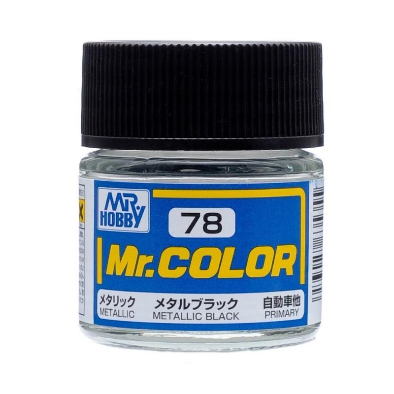 GNZ-C78: C78 Metallic Black 10ml