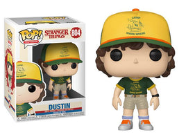 STRANGER THINGS DUSTIN AT CAMP POP! VINYL FIGURE W/ Pop Protector