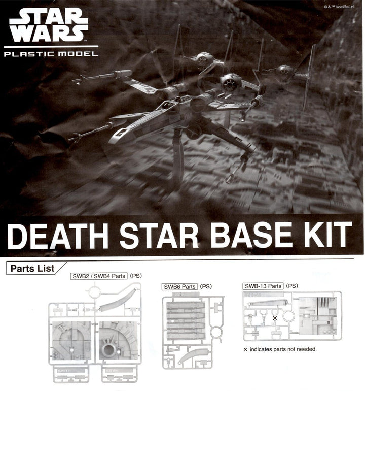 Bandai Death Star base kit tiles for 1/72 scale
