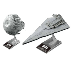 "Pre-Order Death Star II 1/2,700,000 & Star Destroyer 1/14,500 ""Star Wars"", Bandai Star Wars Plastic Model"