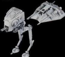 Bandai 1/144 Star Wars AT-ST and Snowspeeder 008