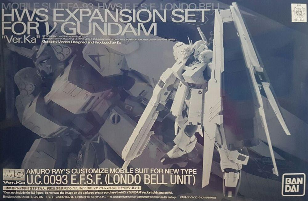 1/100 MG ν Gundam Ver. Ka HWS Expansion Set P-Bandai