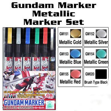 Gundam metallic marker set AMS121