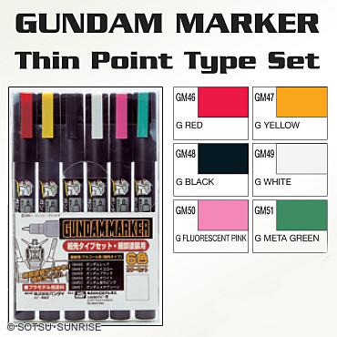Creos GMS110 Gundam Marker 6 color Set (Thin Type)