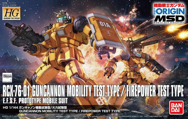"Guncannon Mobility Test Type/Firepower Test Type ""Gundam The Origin"", Bandai HG 1/144"
