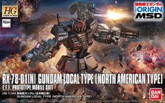 "HG 1/144 Gundam Local Type (North American Front) ""The Origin"""