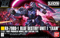 HGUC 1/144 Blue Destiny Unit 1 Exam