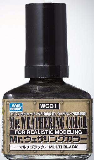 Mr. Weathering Color - Multi Black