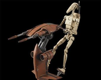 Bandai Star Wars 1/12 Battle Droid & Stap Model kit