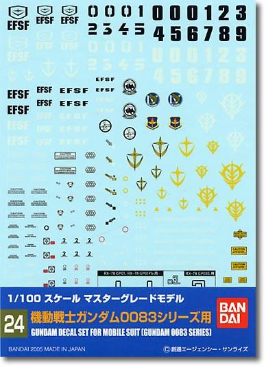 Gundam Decal 24 - Gundam 0083 Series