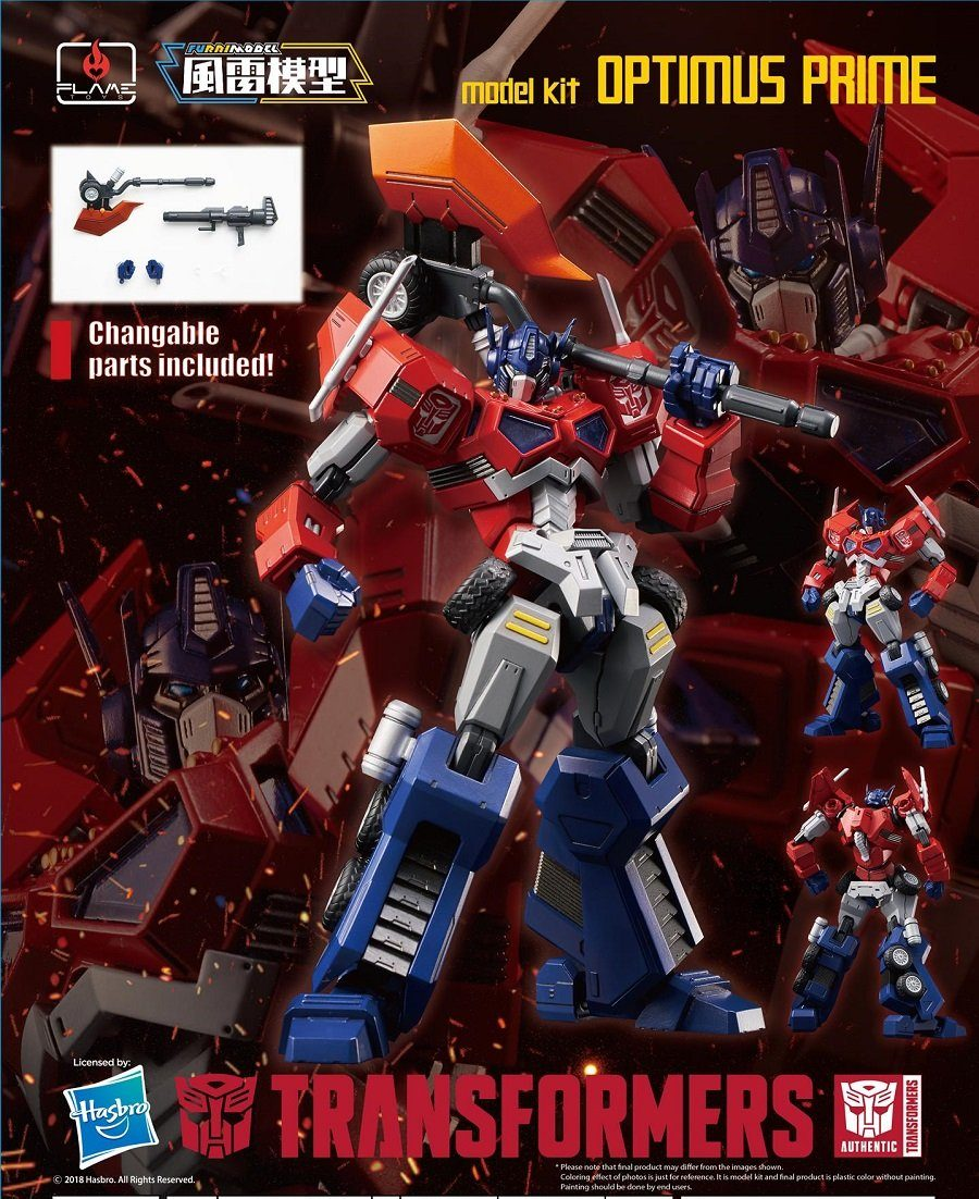 "Pre-Order 01 Optimus Prime (Attack Mode) ""Transformers"", Flame Toys Furai Model"