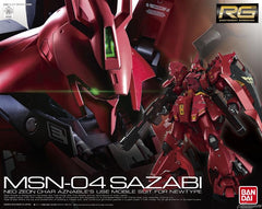 Back ordered 1/144 RG Sazabi Bandai