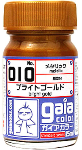 Gaia Metallic Color 010 Bright Gold 15ML